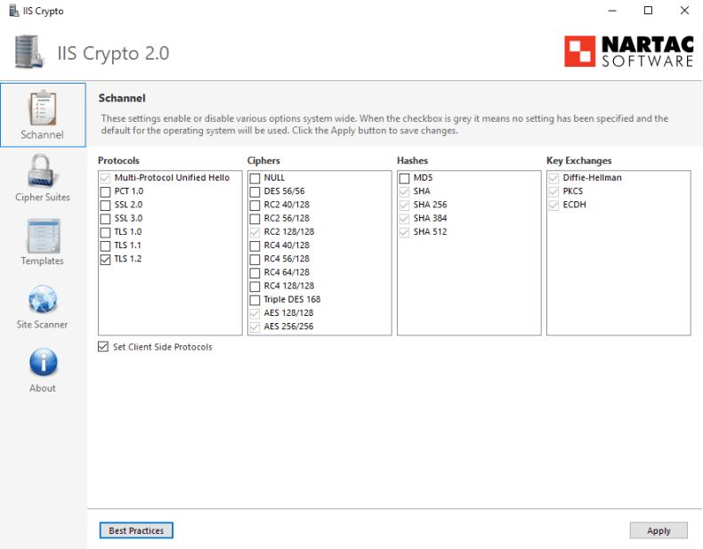 Exchange 2019 - Cipher Suites - Collaborationpro com