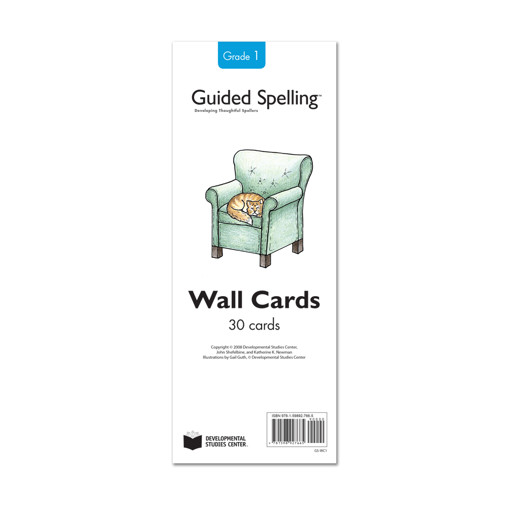 Guided Spelling Spelling-Sound Wall Cards, Grade 1