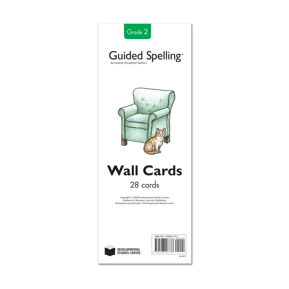 Guided Spelling Spelling-Sound Wall Cards, Grade 2