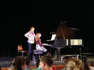 Prof. Marie-France Lefebvre works with Sarah Amos on Debussy