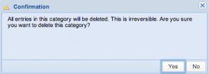 Screenshot: Confirmation Dialog