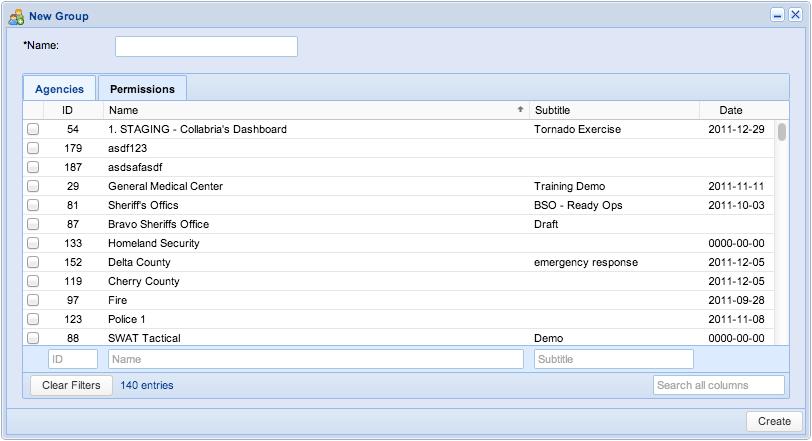 Screenshot: New Group