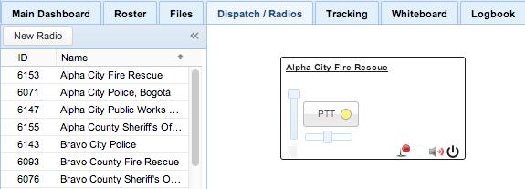 Screenshot: Showing a Radio