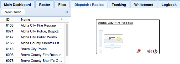 Screenshot: Showing a Radio