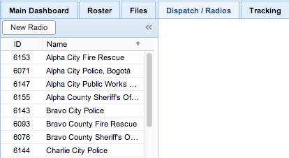 Screenshot: Dispatch Tab