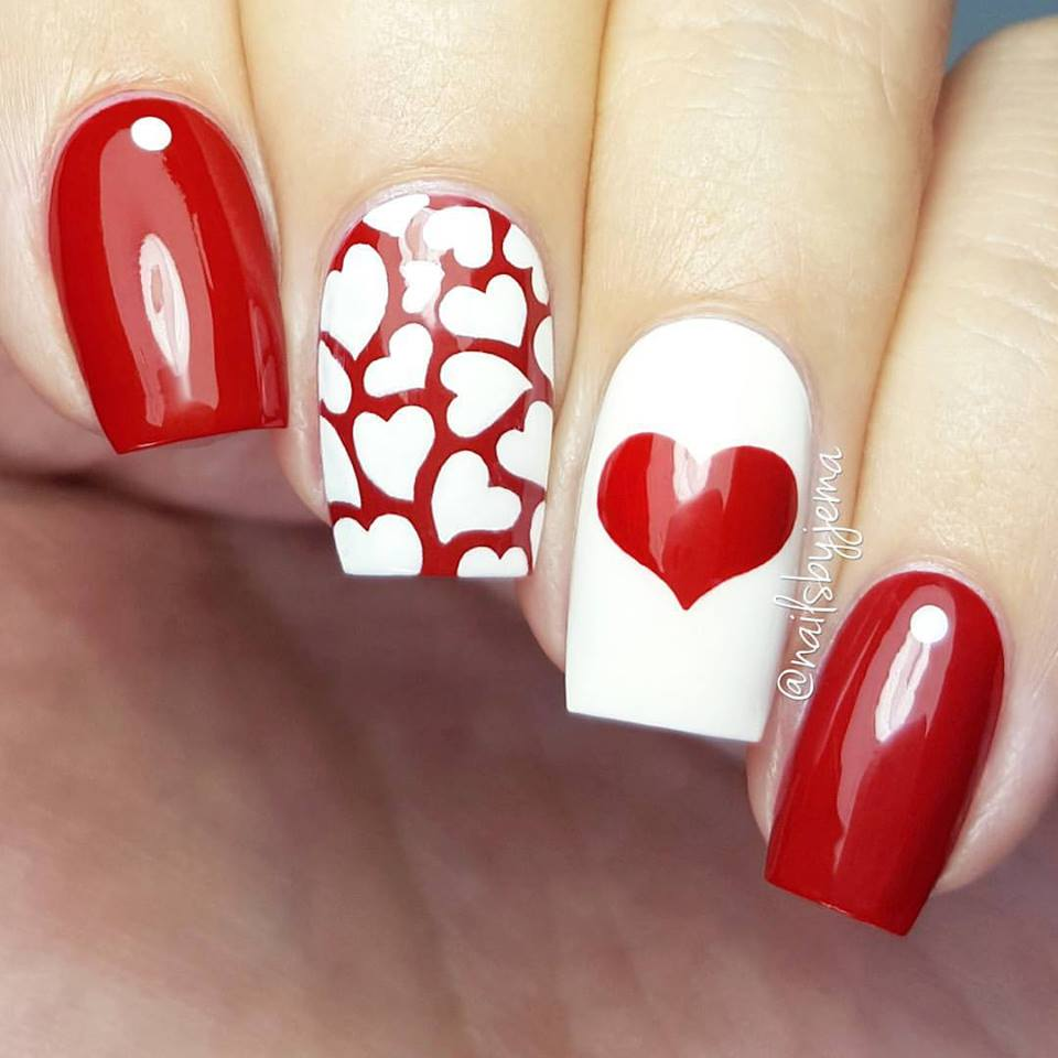 50+ Cute Valentines Day Nail Art Design As A Lovely