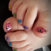 awesome summer toes nail design