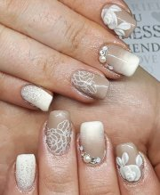 mind-blowing wedding nail art