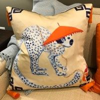 Monkey in Hat Pillow | Accessories | Collage Home