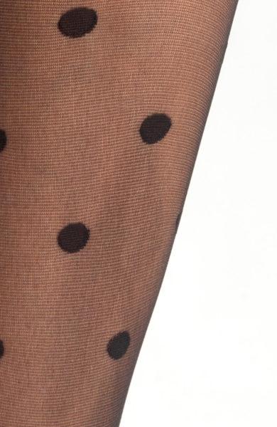 Černé silonky s velkými puntíky punčocháče Estepona
