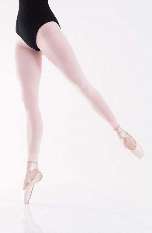 Taneční silonky baletní punčocháče bez chodidel růžové 40den Astrida