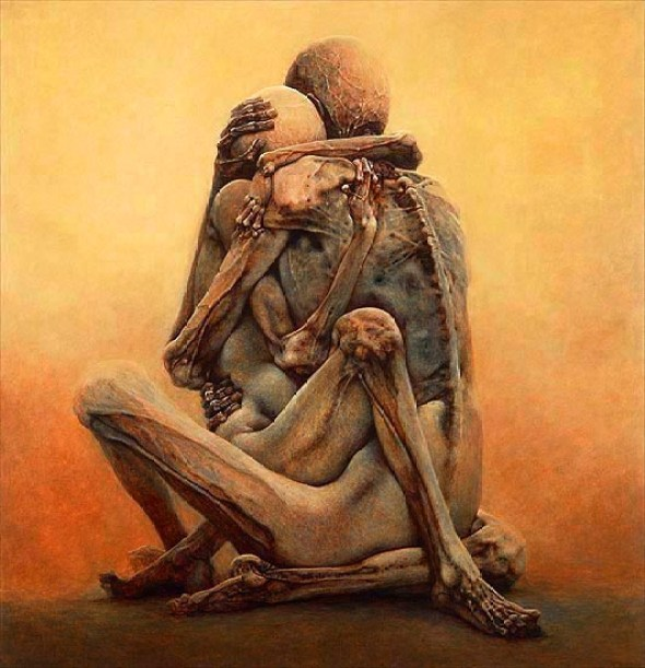 Untitled painting by Zdzislaw Beksinski 1984 (fair use)