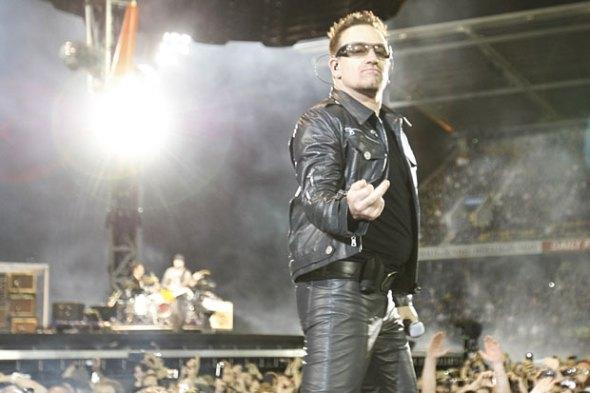 Bono leather trousers