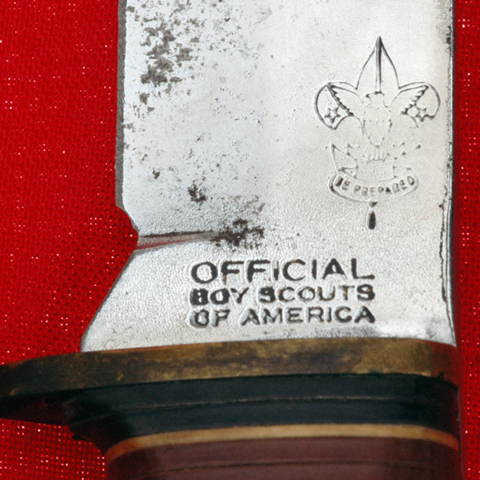 Vintage 1950 S Boy Scout Bsa Western Fixed Blade Survival