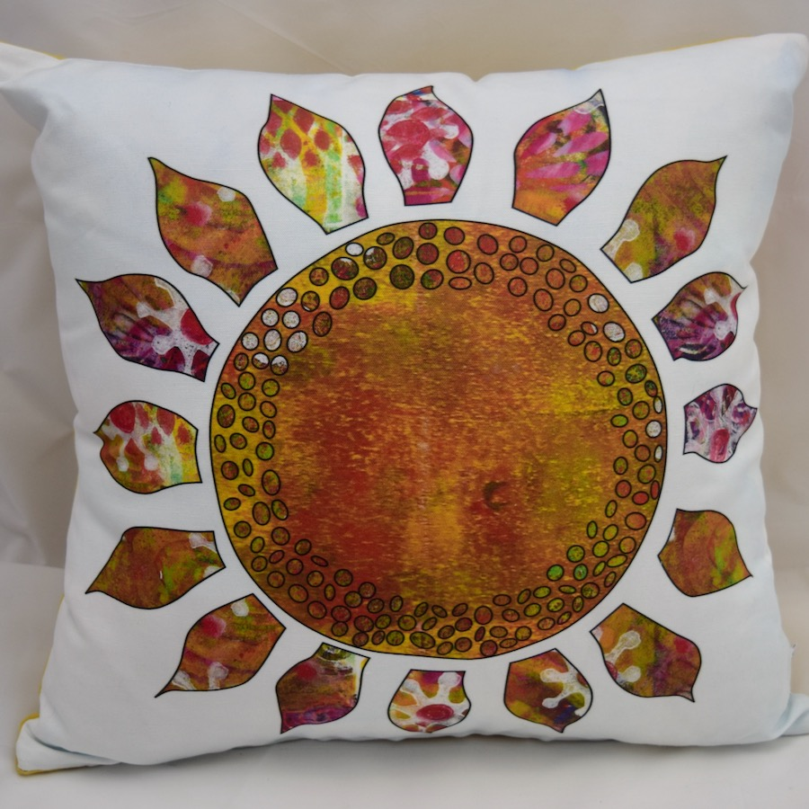 pillow cover sunflower
