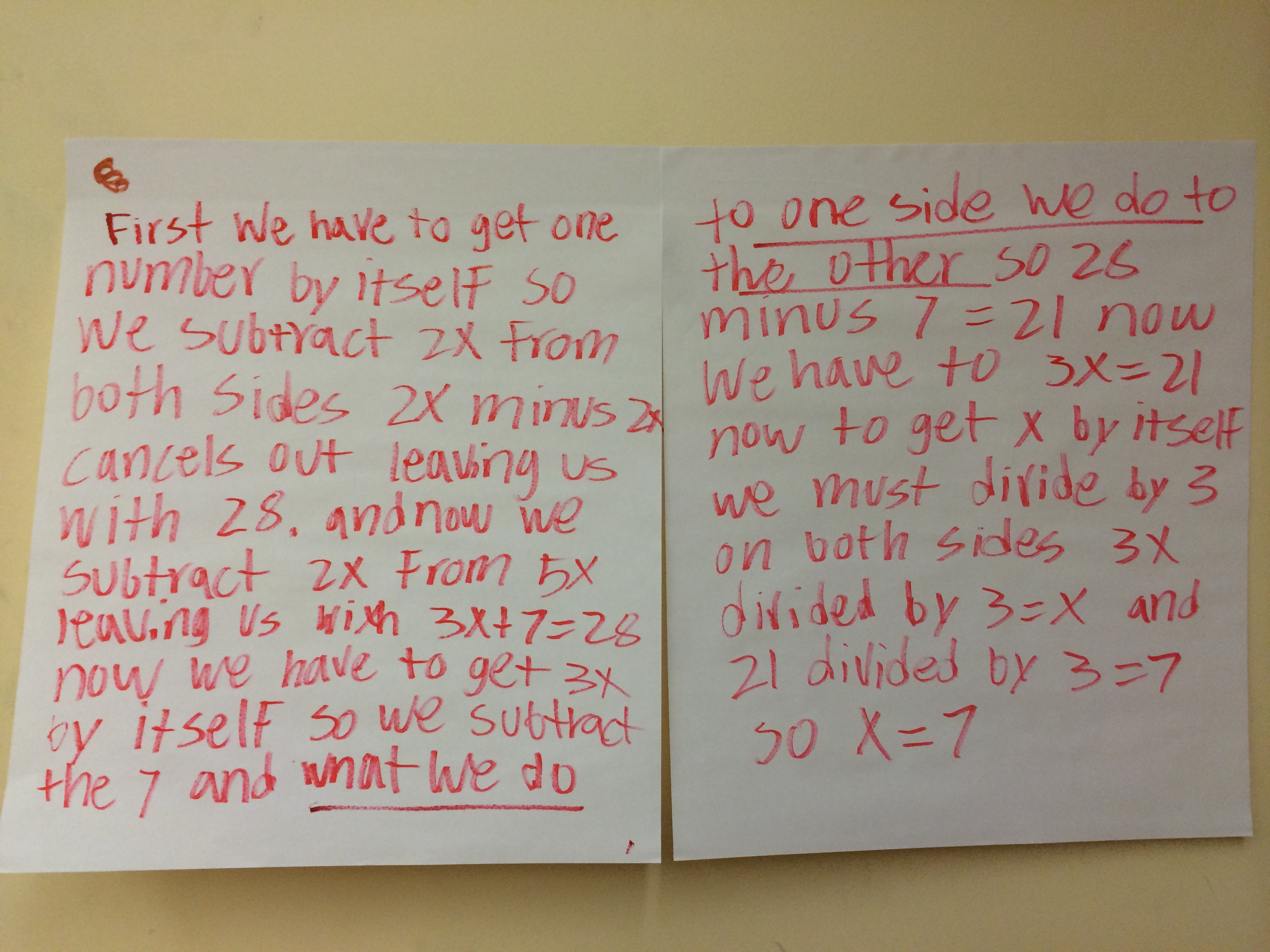 Writing About Math Solving Equations