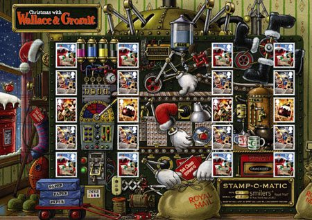 Christmas With Wallace And Gromit 2010 Collect GB Stamps