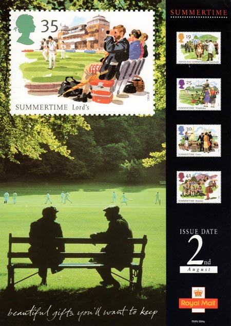 The Four Seasons Summertime Events 1994 Collect GB Stamps