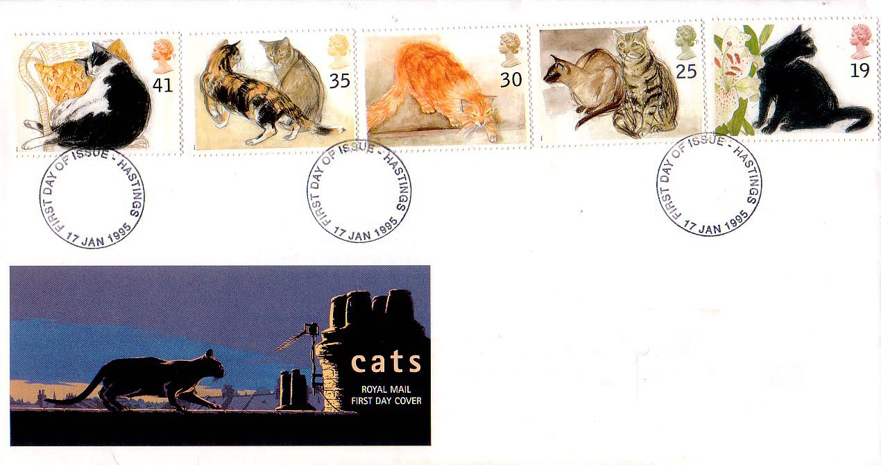 Cats 1995 Collect GB Stamps