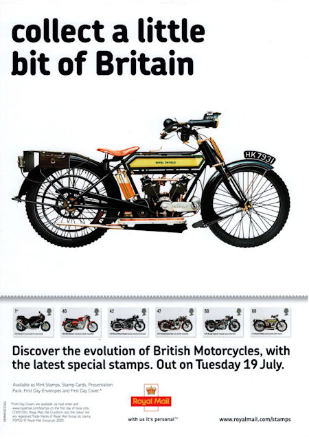 British Motorcycles (2005) : Collect GB Stamps
