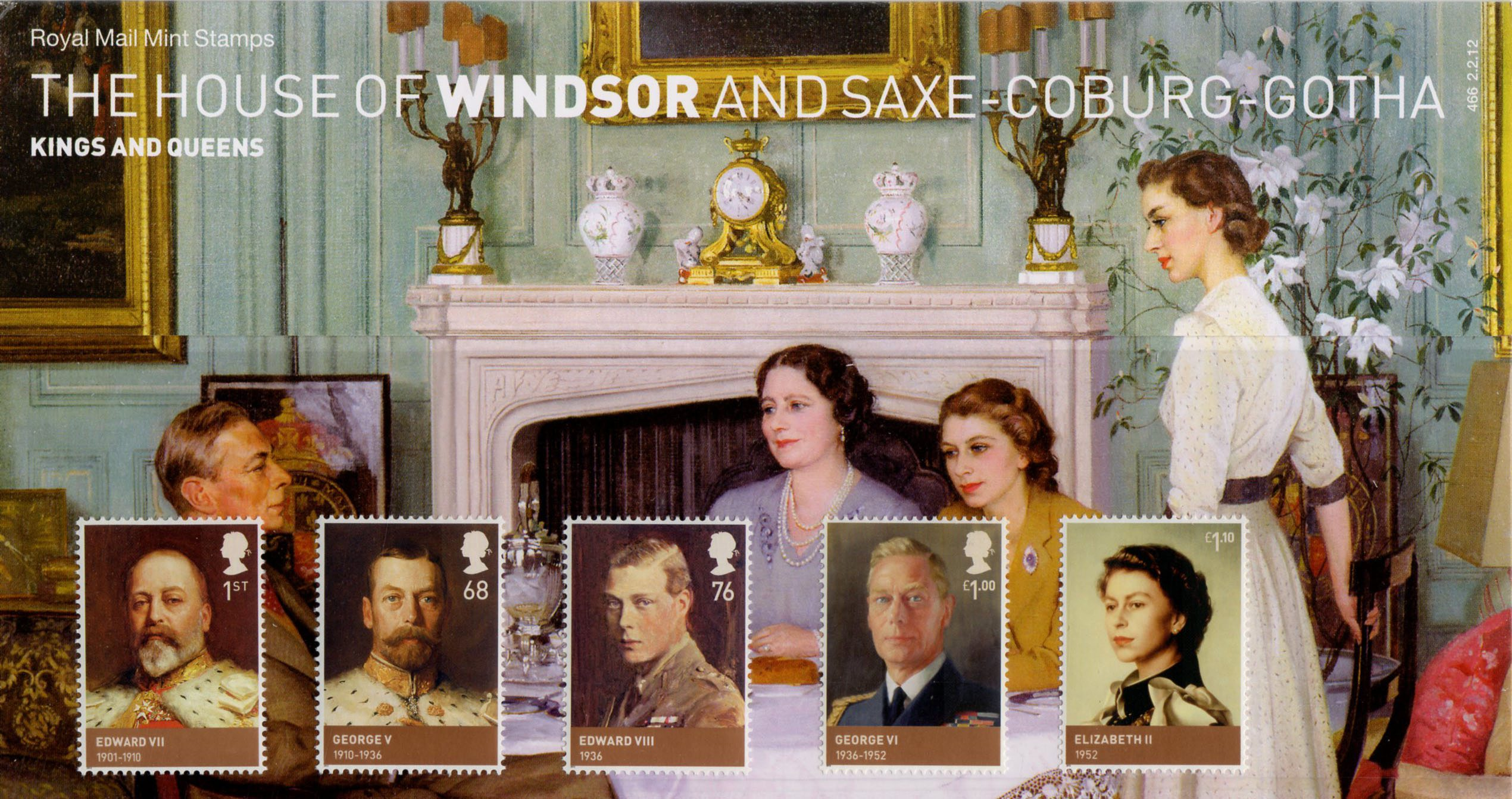The House Of Windsor 2012 Collect GB Stamps