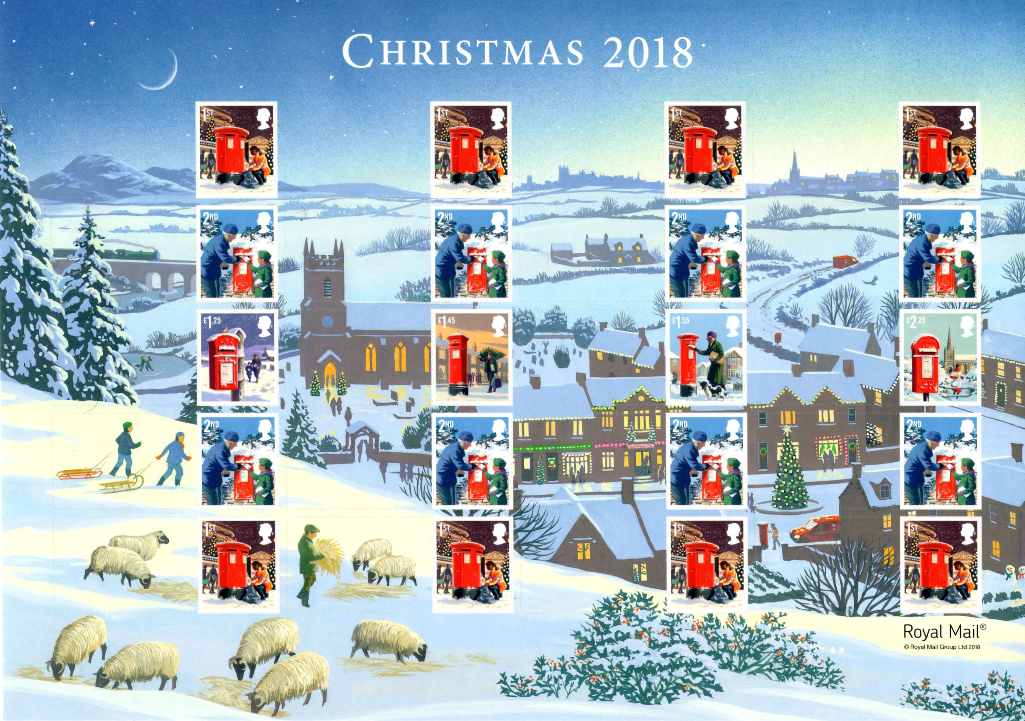 Christmas 2018 2018 Collect GB Stamps