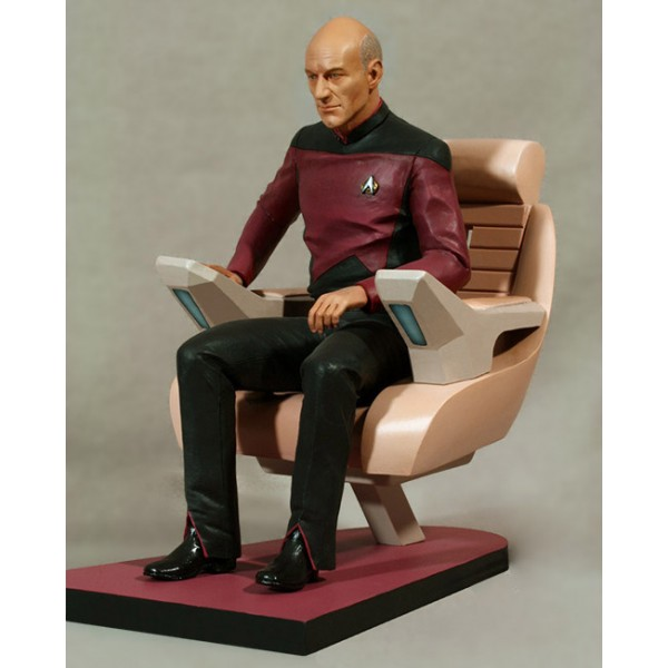 chair cover vinyl white desk for kids star trek tng statue jean-luc picard in captain´s 26 cm