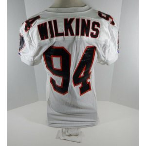 1994 Atlanta Falcons Wilkins _Number_94 Game Issued White Jersey 75th A Patch DP06934