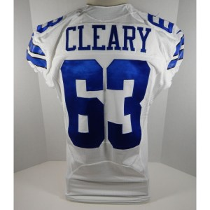 2014 Dallas Cowboys Emmett Cleary _Number_63 Game Issued White Jersey