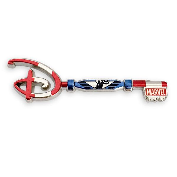 Captain America 80th Anniversary Collectible Key Pin Special Edition Official shopDisney