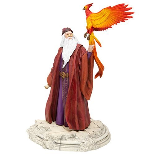 Harry Potter Albus Dumbledore with Fawkes Statue