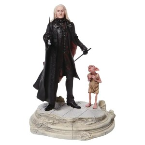 Harry Potter Lucius Malfoy With Dobby 9.5in Statue