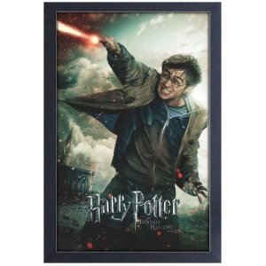 Harry Potter and the Deathly Hallows Pt. 2 Wand Battle Framed Art Print
