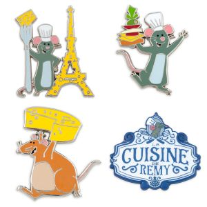 Remy's Ratatouille Adventure Booster Pin Set Official shopDisney