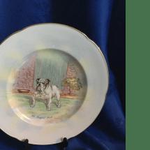 Crown Devon dog series plate England