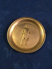 Silver john bull pin dish