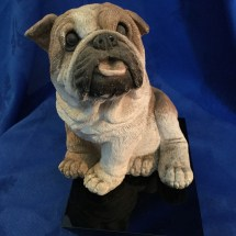Marble resin bulldog