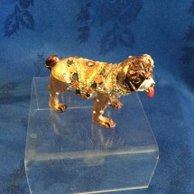 Trinket pill pot bulldog