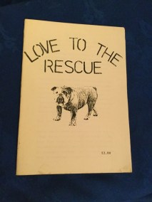 Vintage Bulldog rescue booklet