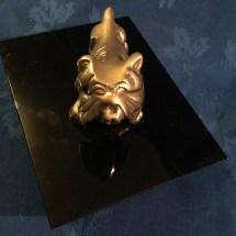 Medium brass Art Deco bulldog