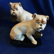 Pair of White Bulldogs made in Germany