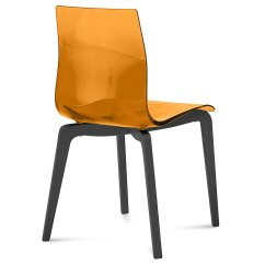 Orange Side Chair Wooden High With Tray Domitalia Gel L Anthracite Modern Eurway Set Of 2