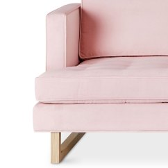 Pink Tufted Sofa For Sale Baja Convert A Couch And Bed Black Gus Modern Aubrey In Velvet Blush | Eurway Furniture