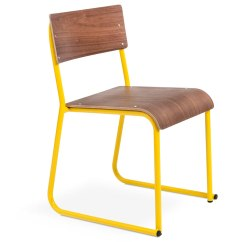 Stackable Church Chairs Chair Gym Bands Gus Modern In Canary & Walnut | Eurway