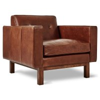 Gus Modern Embassy Saddle Brown Leather Chair | Eurway