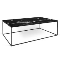 TemaHome Gleam Long Black Marble Modern Coffee Table | Eurway