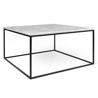 Gleam White Marble + Black Coffee Table by TemaHome | Eurway