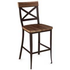 Distressed Black Dining Chairs Chair Covers Christmas Kyle Wood Bar Stool By Amisco | Collectic Home