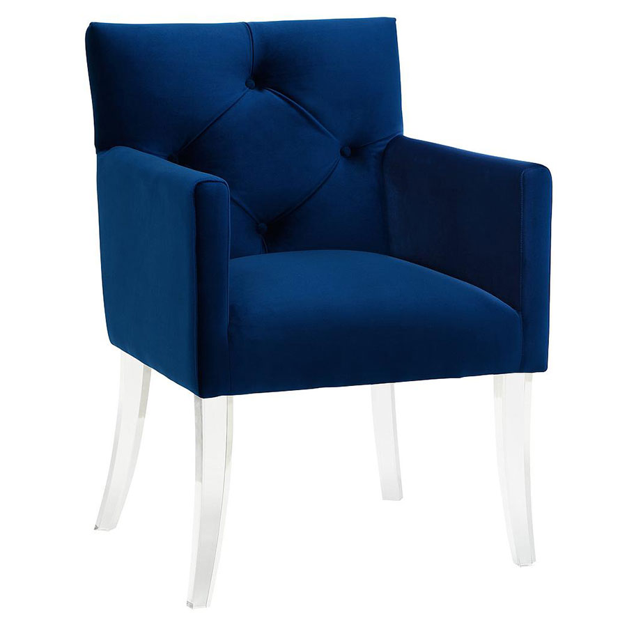 clear dining chair transat eileen gray lorraine contemporary blue arm | collectic home