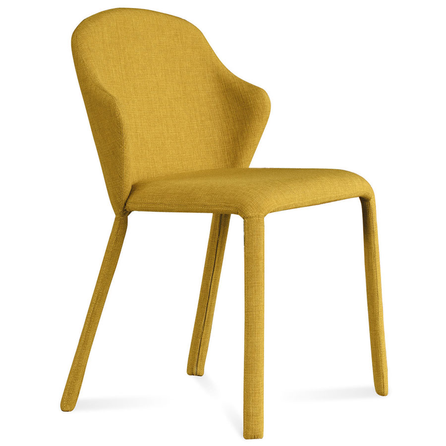 Modern Dining Chairs  Orion Mustard Side Chair  Eurway